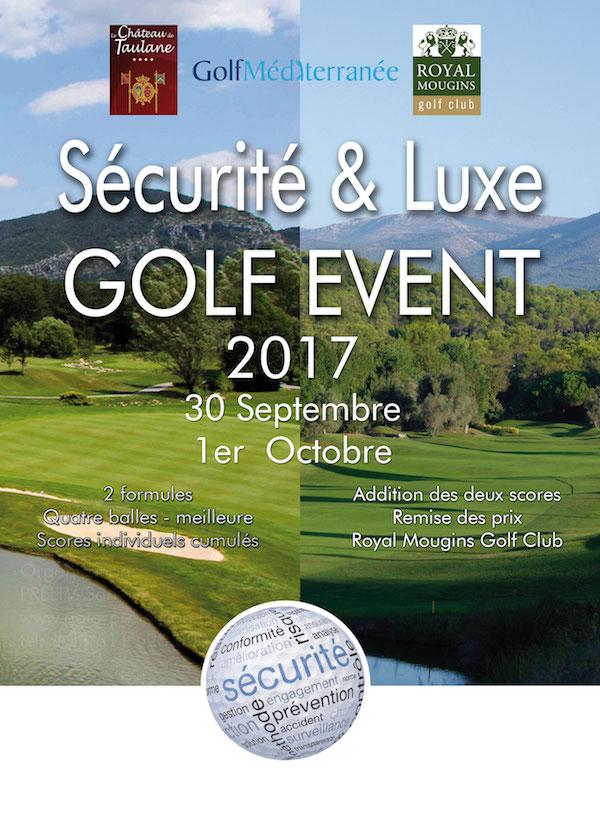 Sécurité et Luxe Golf Event 2017